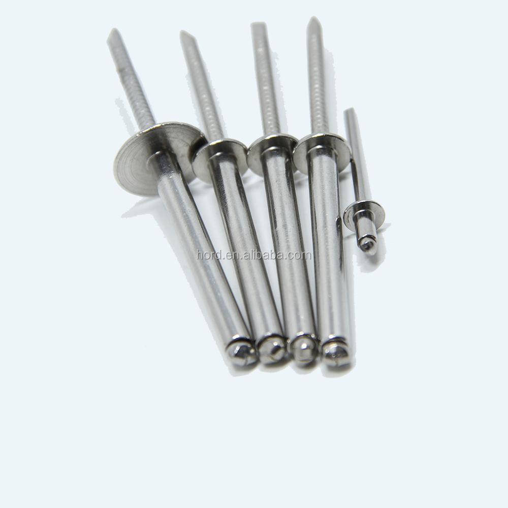 Blind Pop Remaches de cabeza de c/úpula A2 acero inoxidable 3.2 x 16-100 unidades