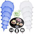 6-pack Reusable Suction Stretchable Seal Silicone Stretch Lids Set
