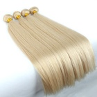 Factory Wholesale Price Blonde Hair Extensions 10-30 inch Double Drawn Weft 613 Bundle