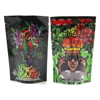 3.5grams/8 Ounce Weed 420 Stand Up Pouches Custom Doypack Weed Pouch