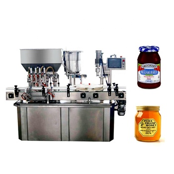 Widely Used jam paste sauce filling sealing capping machine for glass jar and bottle