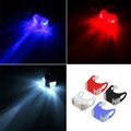 Bike Bicycle Cycling Silicone Head Front Rear Tail Taillight Lamp Safety Flash Flashlight Light LED free