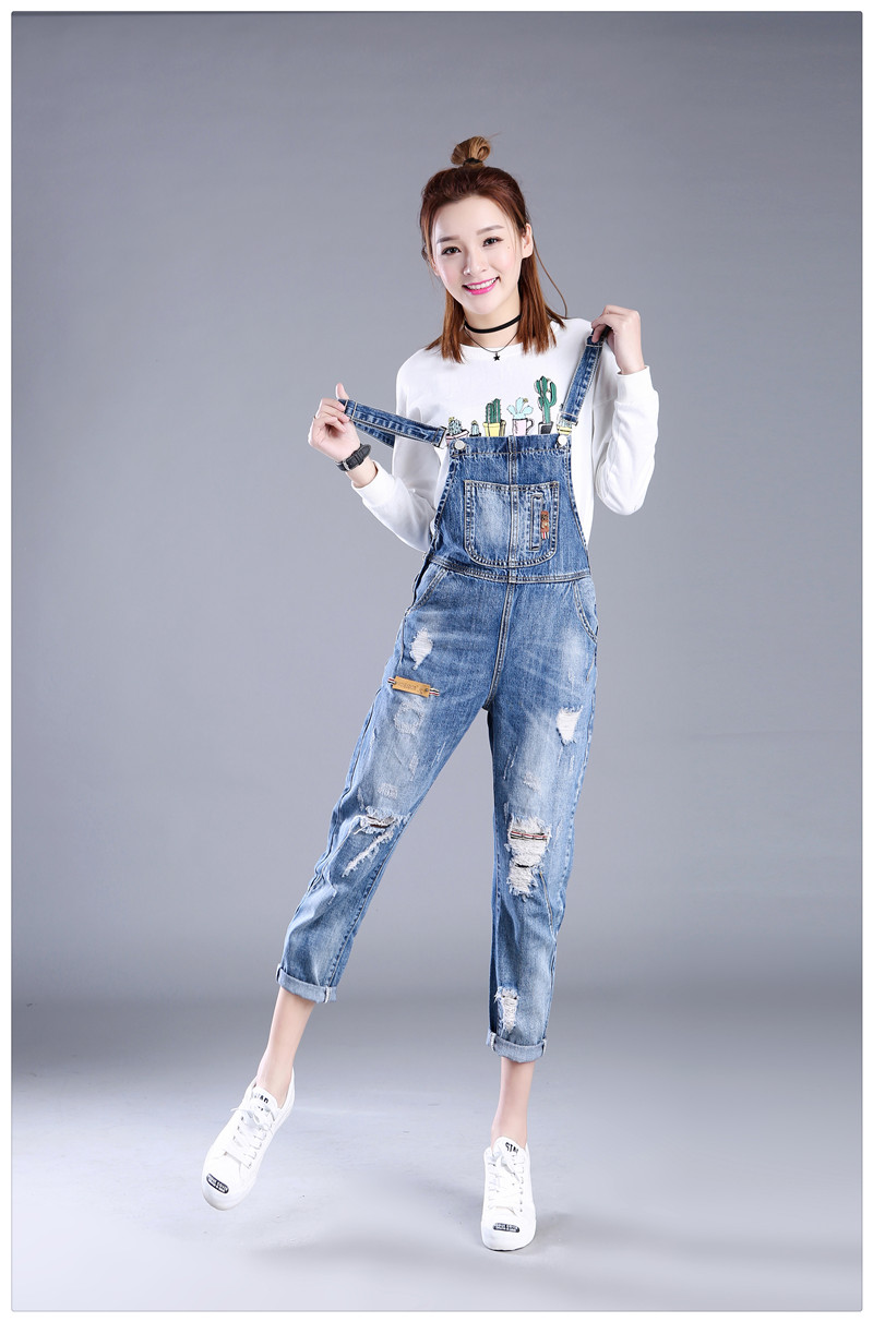 2019 Wholesale Full Sizes XXS 7XL Womens Jumpsuit Denim Overalls Women 2017  New Casual Strap Hole Ripped Jeans Plus Size Overalls 5XL 6XL K1208 From ...