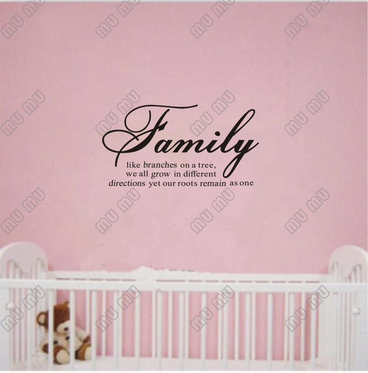 Free Shipping Family Is Vinyl Wall Lettering Quote Wall: Family Like Branches On A Tree Vinyl Lettering Wall