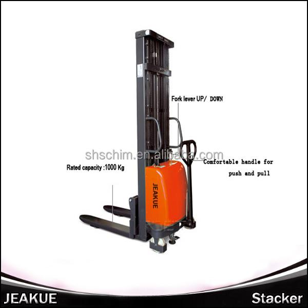 2.0T Heavy-duty High Lifting Fork Semi Electric Stacker &Reclaimer