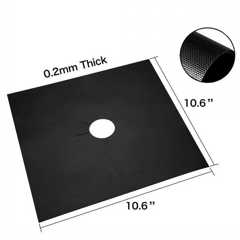 US Standard Easy To Clean Gas Range Protectors Non Stick Cooking Mat Heat Resistant Reusable Gas Stove Burner Cover