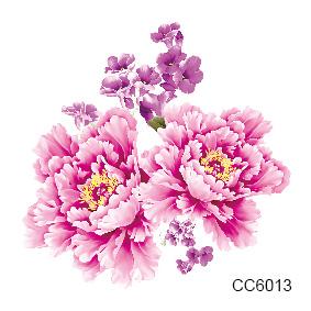 cc6013 6 x 6 cm petit moins cher couleur fleur de pivoine designer tatouage temporaire. Black Bedroom Furniture Sets. Home Design Ideas