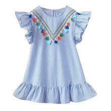 Платье принцессы, новинка 2018, детская одежда, детское платье в горошек с Минни, детское Хлопковое платье-пачка с рисунком, повседневная одеж...(Китай)