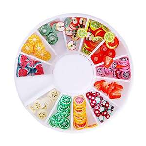 8 Cases of Fruit Cake Flower Animal Slices Perfect for Sticking to Slime, DIY Crafts, Nail Art and Decoration
