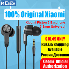 Original Xiaomi Piston 3 Earphones Xiaomi Hybrid In-ear Earphones Mi Piston 2 3 4 with Mic for Hifi Xiaomi Phones PC 3.5mm