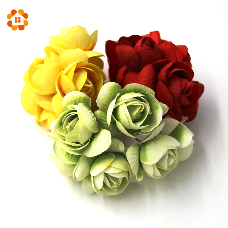 120pcs DIY Can Mix And Match Colors Artificial Flower Artificial Flower Bouquet Spring Decoration Home decorations for Wedding