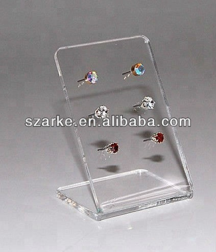 Acrylic Earring Display Rack Transparent Earring Holder T Shape Earring Stand for Jewellery Holder 6 Pieces Earring Holder Stand