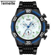 Temeite мужские часы роскошные золотые кварцевые часы мужские военные водонепроницаемые спортивные наручные часы Мужские часы Relojes Para Hombre Saat(Китай)