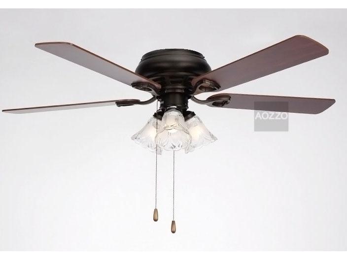"51"" Diameter Modern Contracted 3 Lights Wooden Fan Blades"