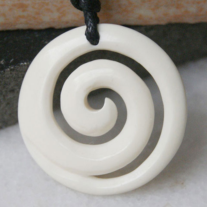 Maori Brosnan Koru Bone Carving Necklace From New Zealand Jewellery Watches Other Ethnic Jewellery Entrepreneurship Bt
