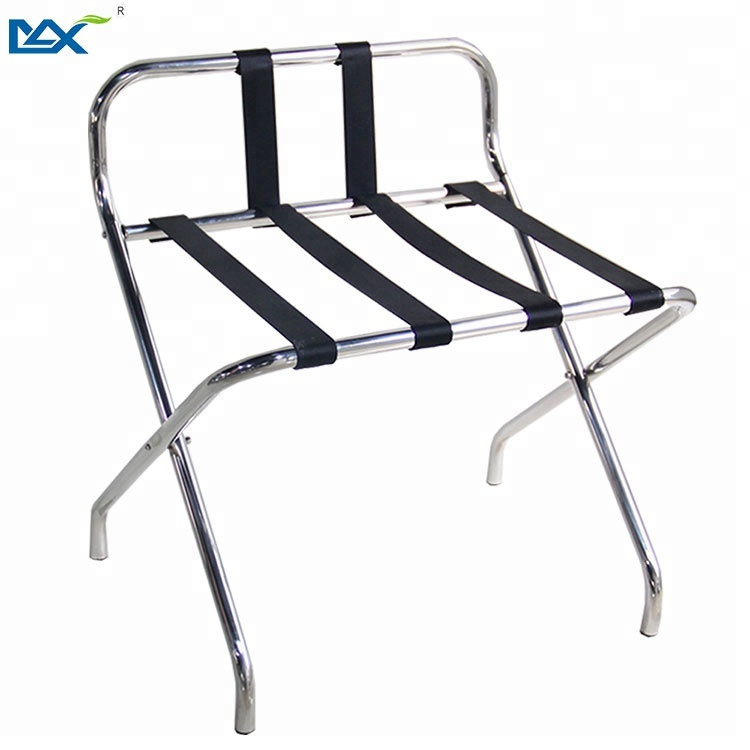 MAX metal stainless steel hotel room luggage racks folding for bedrooms