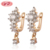 2018 Coloful 18K Solid Gold Earrings For Young Girls