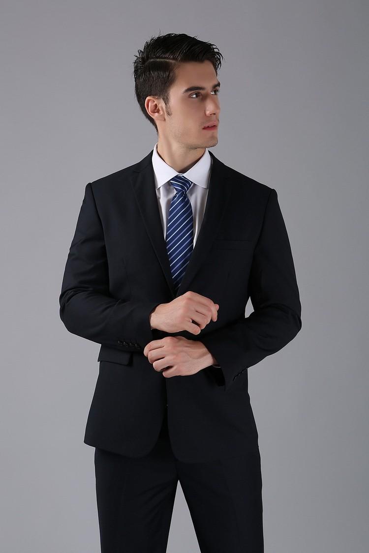 (Kurtki + Spodnie) 2016 Nowych Mężczyzna Garnitury Slim Fit Niestandardowe Garnitury Smokingi Marka Moda Bridegroon Biznes Suknia Ślubna Blazer H0285 39