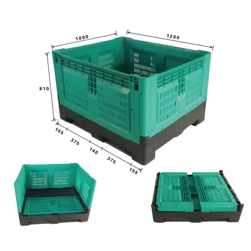 Недорогая складная пластиковая корзина для поддонов