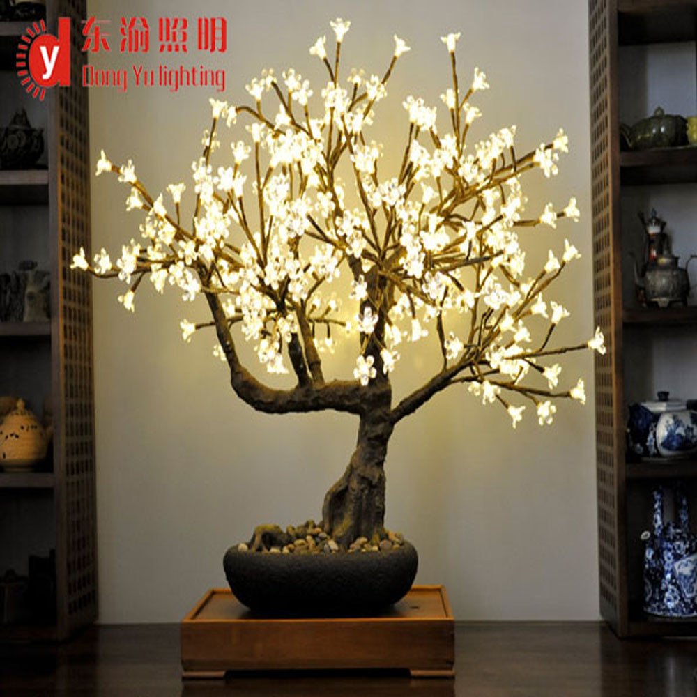 High Simulation Home Decor Artificial Bonsai Warm White Cherry Tree On Sale Buy Artificial Bonsai Trees For Sale Home Artificial Bonsai Tree Artificial Trees With Lights Product On Alibaba Com