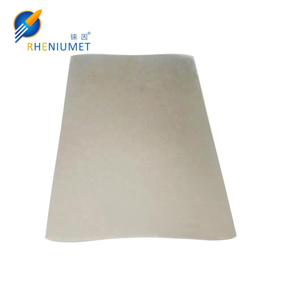 Лучшая цена за кг, Высококачественная фабричная 0,04-20 мм Rhenium plate,rhenium sheet для продажи