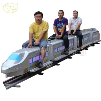 LED light backyard and carnival shinkansen kids ride on train and track