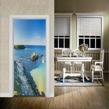 77x200 см 3D наклейки на дверь для гостиной спальни цветы уличные виниловые водонепроницаемые настенные наклейки домашний декор клейкие обои(Китай)