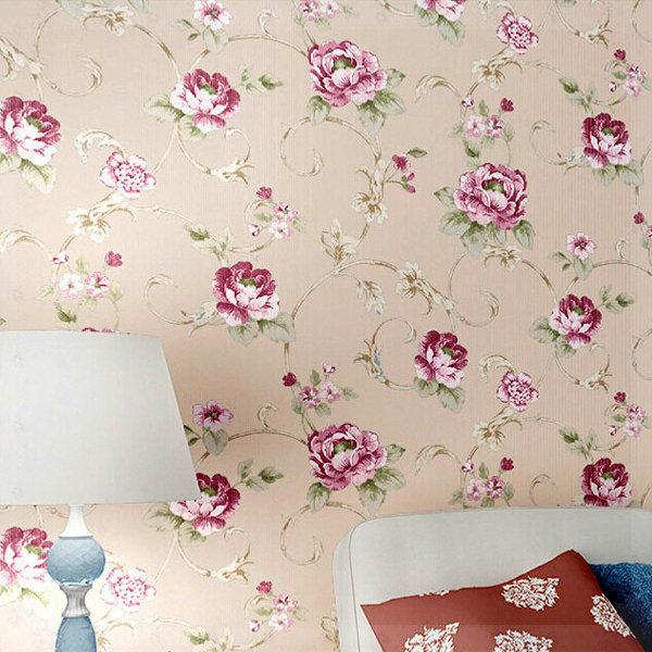 Floral Room Wallpaper: Fashion-Modern-American-Pastoral-Wallpaper-Bedroom-Living