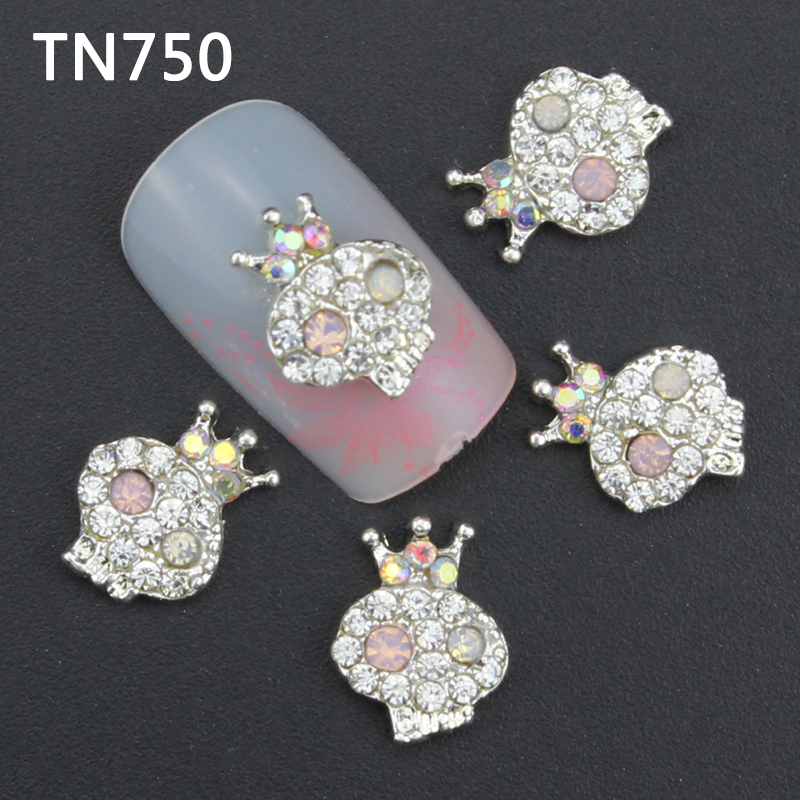 10pcs Glitter crown Rhinestones 3d Nail Art Decorations Alloy Nail Sticker Charms Jewelry for Nail Gel