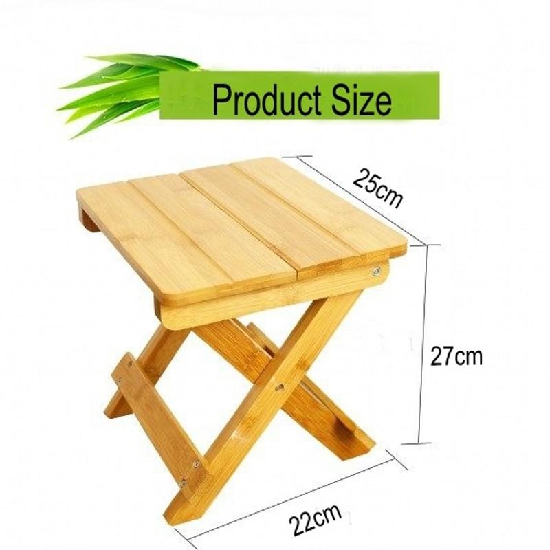 Оптовая продажа, индивидуальная расширяемая Складная бамбуковая скамья