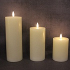 Candle Flameless Led Lights Candle Wholesale Ivory Pillar Real Wax Battery Flameless Light New Led Candle