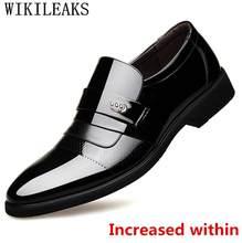 2020 итальянская Роскошная брендовая мужская обувь; Кожаная официальная обувь; Мужские туфли-оксфорды для мужчин; Свадебные модельные туфли; ...(China)