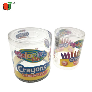 Custom disposable clear plastic round packaging box