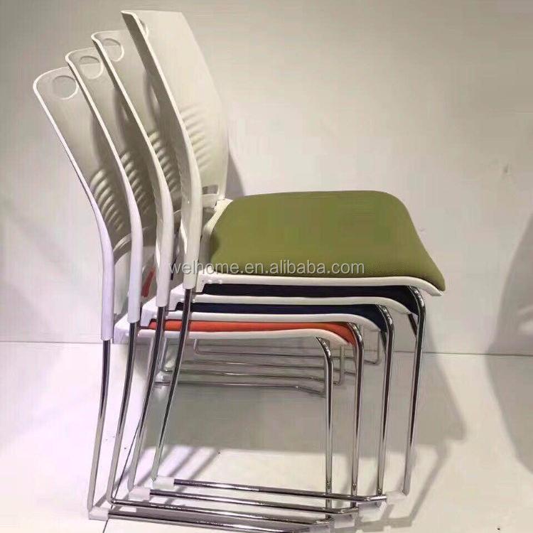 Современный Пластиковый Штабелируемый офисный стул для посетителей конференции без колес