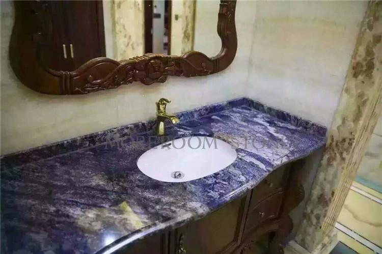Blue Marble Bathroom Countertop Bling Blue Marble Blue