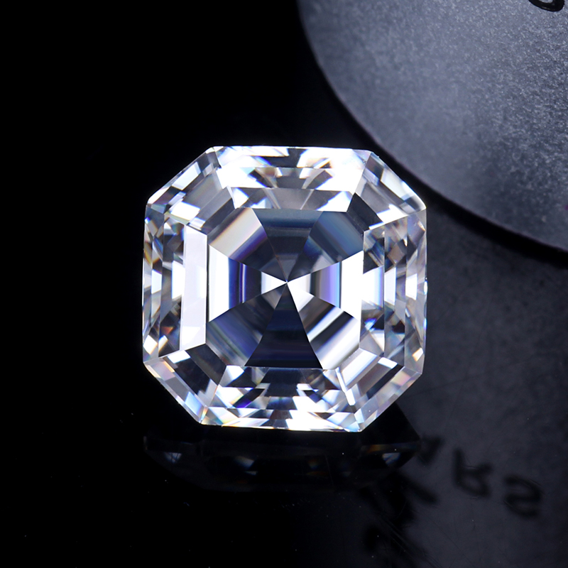 6*6mm asscher cut EF clarity diamond white synthetic moissanite jewelry