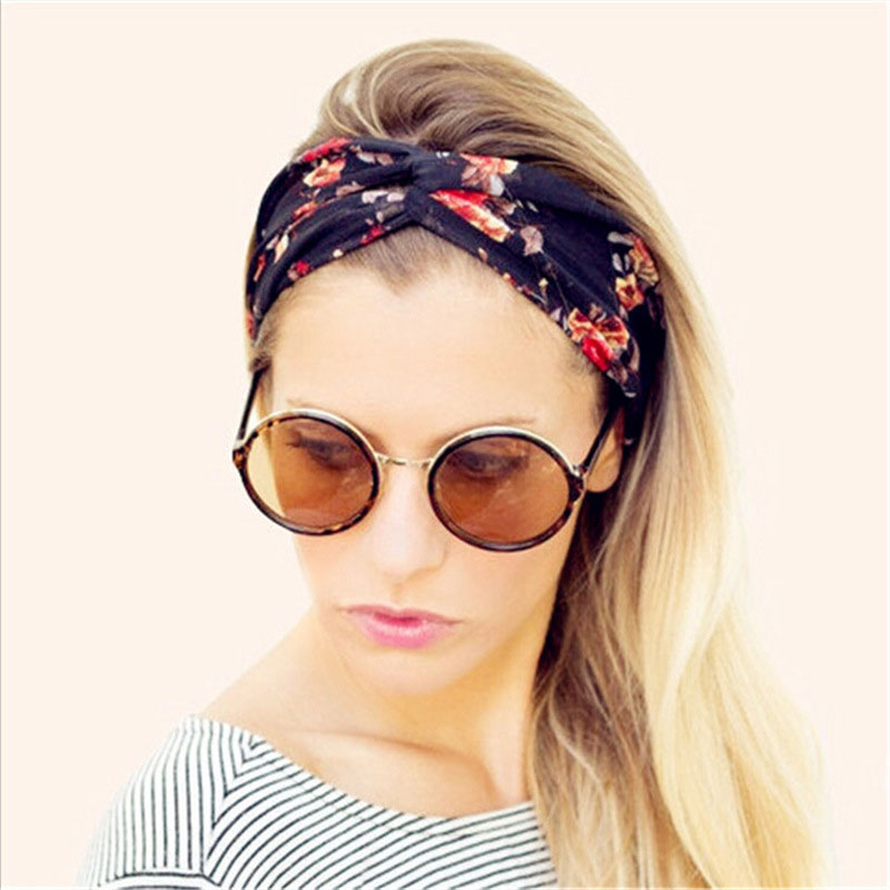 Detail Feedback Questions about 1Pc Elasticity Turban Twisted Knotted Bow  Headbands Elastic Hair Bands Printing Stretch Hairband Girls Headwear on ... bfcd8fbeb88