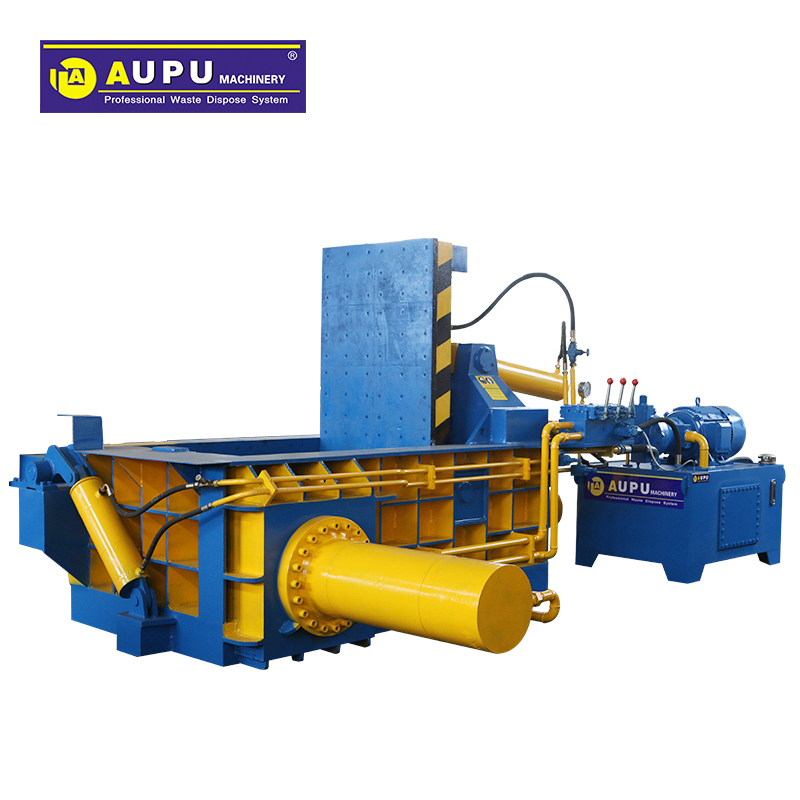 AUPU- MACHINERY Good quality scrap steel compactor machine factory with ce ISO