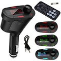 360 Degree Rotation 3Colors Car Kit MP3 Mucsic Player Wireless FM Transmitter Radio Modulator With USB
