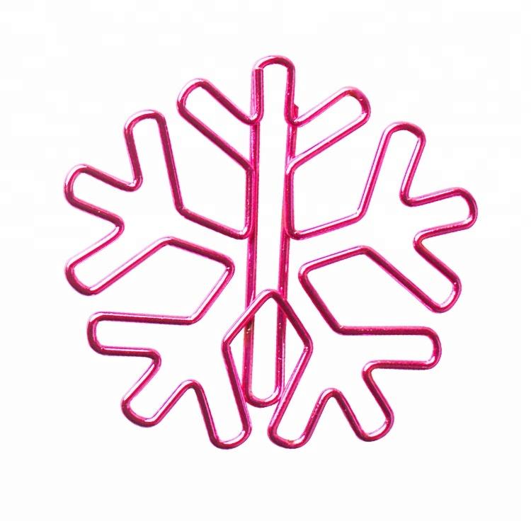 Cute christmas planner paper clips assorted shape snowflake ,bear , Tree ,Gift bag ,Deer bookmarks