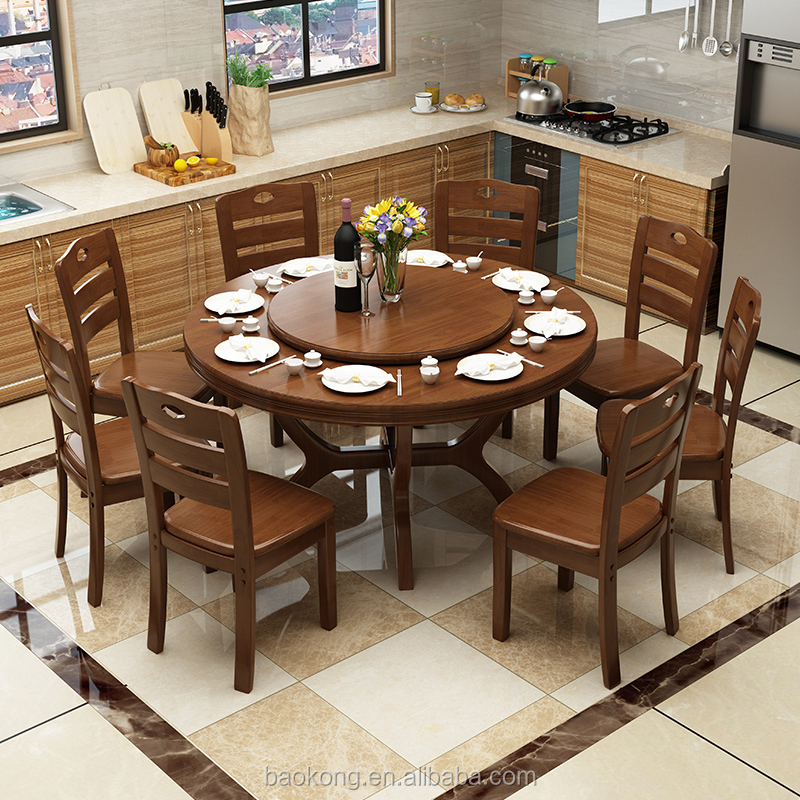 Dining Room Furniture Solid Wood Rotating Dining Table Buy Wood Dining Table Designs Rubber Wood Round Dining Table Wooden Round Table Product On Alibaba Com