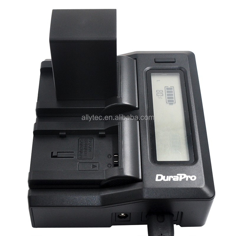 Quick LCD Dual Channel Battery Charger for Canon BP-828 BP-820 HF G30 HFG30 XA20