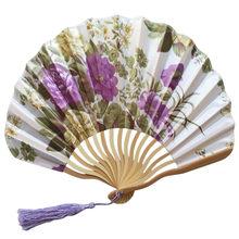 Веер из бамбуковой бумаги, складной веер в китайском стиле длиной 23 см, вечерние вееры для свадебного декора, 13 дюймов, чехол для вееров из ба...(Китай)
