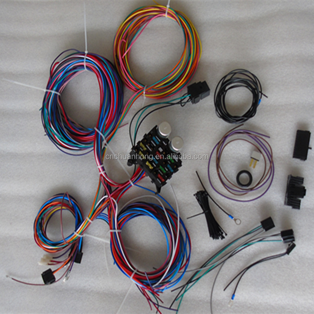 omix chassis wire harness new jeeps cj7 cj5 willys scrambler 17203.01 kit -  buy car fuse box relay wire harness,wiring harness,engine and dash wire  wiring harness product on alibaba.com  alibaba