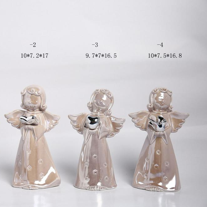 """Christmas Angel with Wings White 16/"""" by 10/"""" Figurine"""