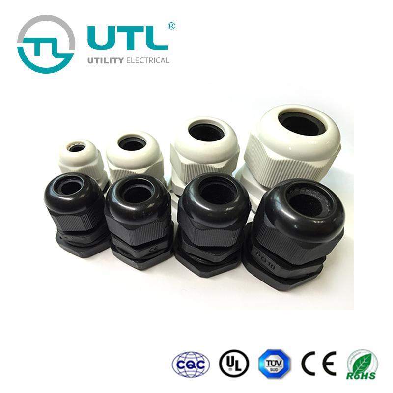 90 Degree Waterproof IP68 Nylon Joint Adjustable Locknut for 6mm-10mm Dia Cable Wire sourcing map M16 Cable Gland
