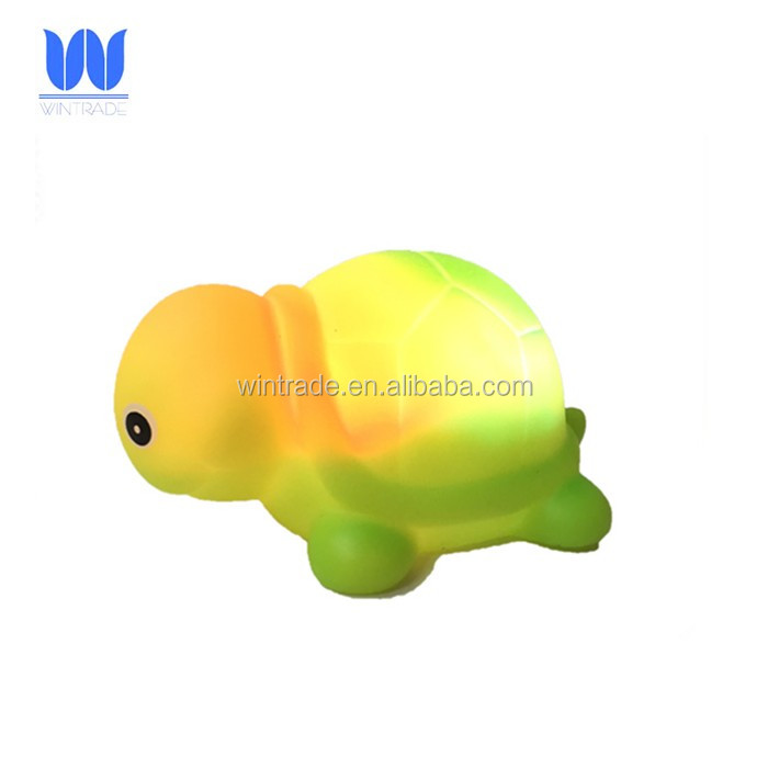 Safety waterproof led rubber animal fun tub toy light up bath gift