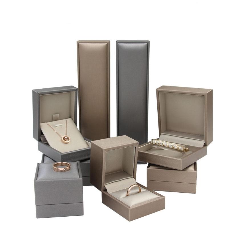 Роскошная шкатулка для ювелирных изделий из искусственной кожи, модная подарочная шкатулка для ювелирных изделий на заказ