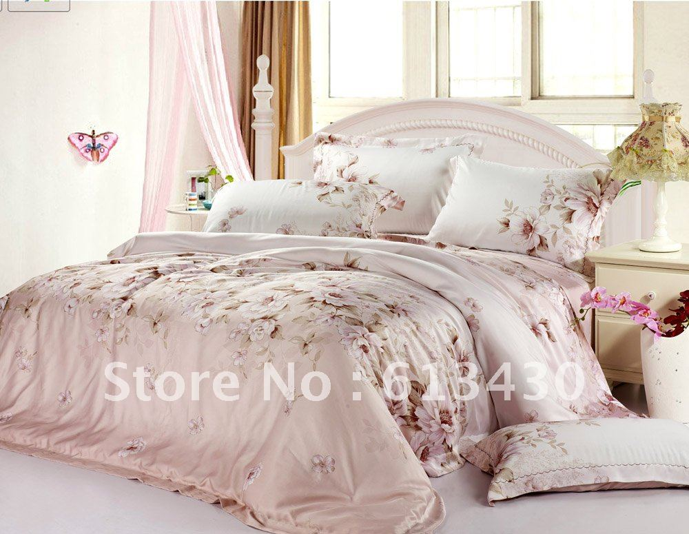 Europe luxury tencel fabric bedding sets queen king size - King size bedroom comforter sets ...