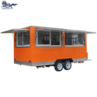 JX-FS450 Galvanized truck food trailer mobile kitchen for fast food